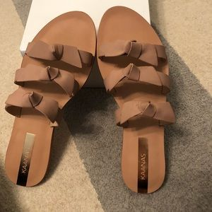 RECIFE BOW SANDALS IN NUDE